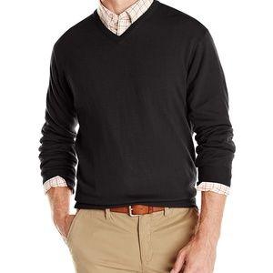 Cutter & Buck black v neck sweater